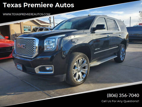 2015 GMC Yukon for sale at Texas Premiere Autos in Amarillo TX