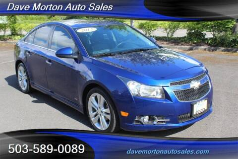 2012 Chevrolet Cruze for sale at Dave Morton Auto Sales in Salem OR
