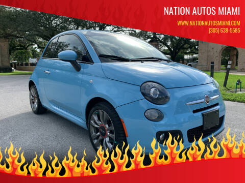 2017 FIAT 500 for sale at Nation Autos Miami in Hialeah FL