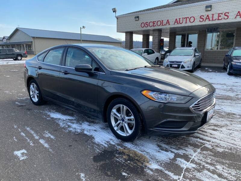 2018 Ford Fusion for sale at Osceola Auto Sales and Service in Osceola WI