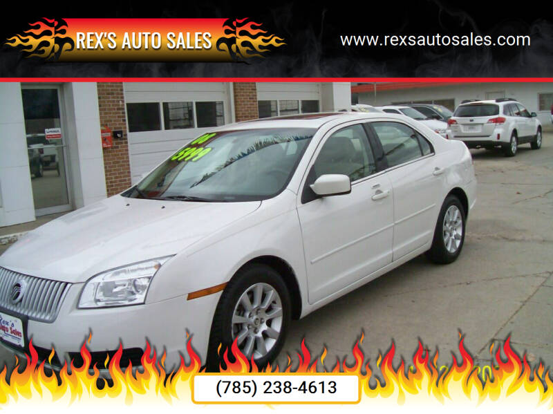 2008 Mercury Milan for sale at Rex's Auto Sales in Junction City KS