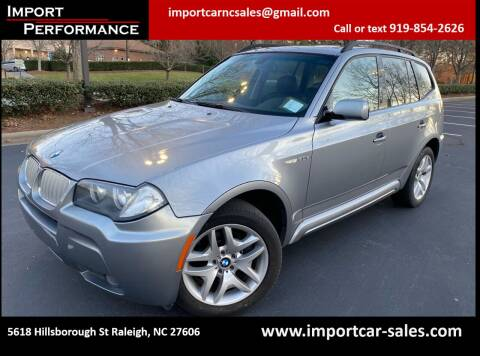 2007 BMW X3 for sale at Import Performance Sales - Henderson in Henderson NC