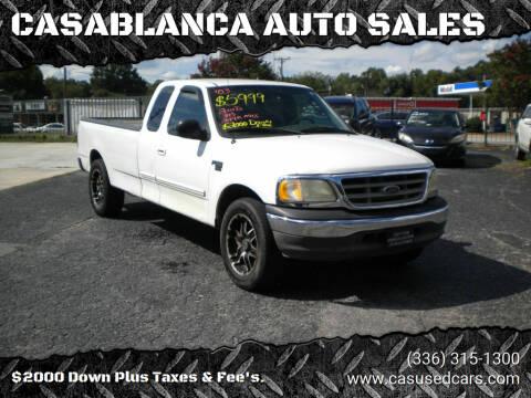 2003 Ford F-150 for sale at CASABLANCA AUTO SALES in Greensboro NC