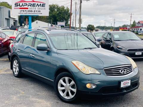 2008 Infiniti EX35 for sale at Supreme Auto Sales in Chesapeake VA