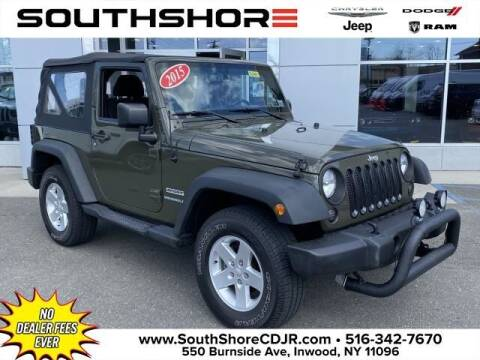 2015 Jeep Wrangler for sale at South Shore Chrysler Dodge Jeep Ram in Inwood NY
