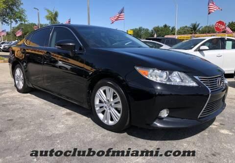 2015 Lexus ES 350 for sale at AUTO CLUB OF MIAMI in Miami FL