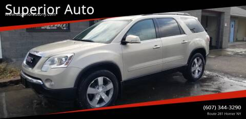 2011 GMC Acadia for sale at Superior Auto in Cortland NY