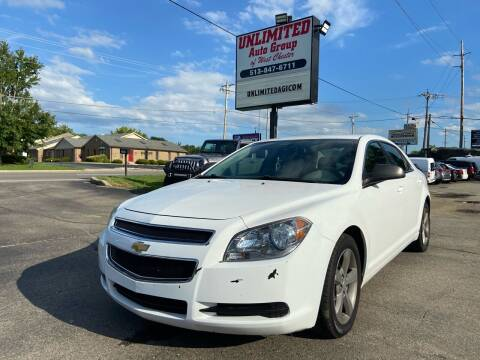 2012 Chevrolet Malibu for sale at Unlimited Auto Group in West Chester OH