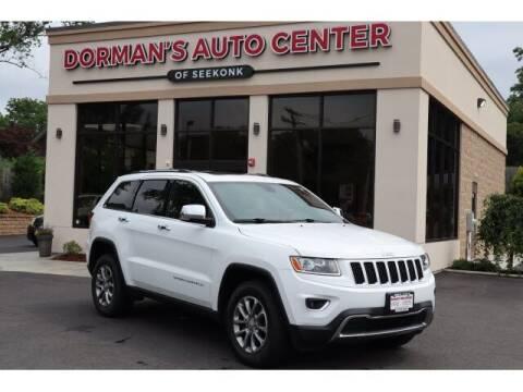 2016 Jeep Grand Cherokee for sale at DORMANS AUTO CENTER OF SEEKONK in Seekonk MA