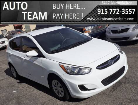2015 Hyundai Accent for sale at AUTO TEAM in El Paso TX