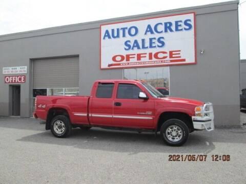 2002 GMC Sierra 2500HD for sale at Auto Acres in Billings MT