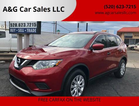 2016 Nissan Rogue for sale at A&G Car Sales  LLC in Tucson AZ