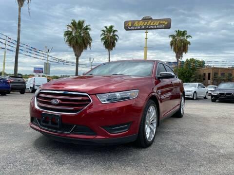 2017 Ford Taurus for sale at A MOTORS SALES AND FINANCE - 10110 West Loop 1604 N in San Antonio TX
