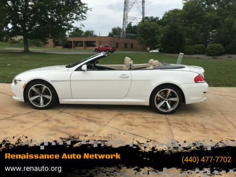 2008 BMW 6 Series for sale at Renaissance Auto Network in Warrensville Heights OH