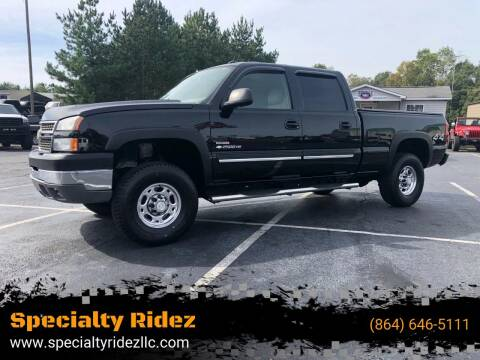 2005 Chevrolet Silverado 2500HD for sale at Specialty Ridez in Pendleton SC