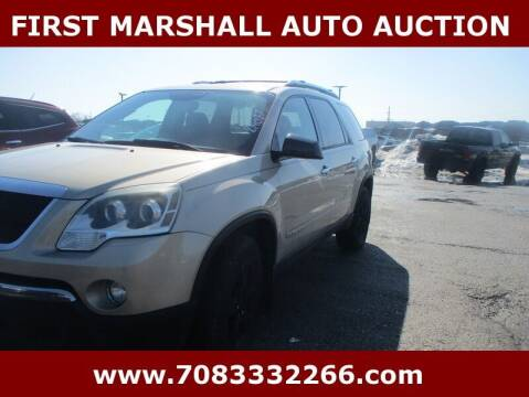 2007 GMC Acadia for sale at First Marshall Auto Auction in Harvey IL