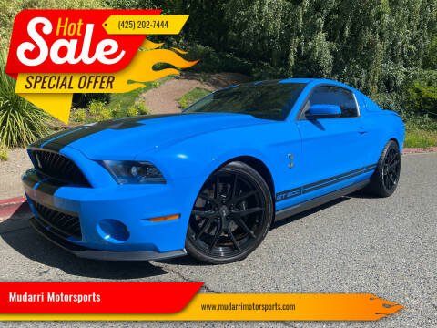 2010 Ford Shelby GT500 for sale at Mudarri Motorsports in Kirkland WA