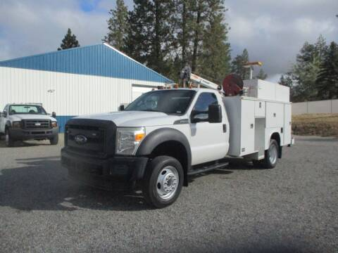 2013 Ford F550 UTILITY SERVICE BED for sale at BJ'S COMMERCIAL TRUCKS in Spokane Valley WA