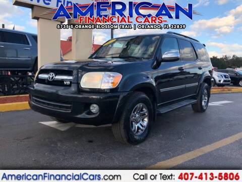 2007 Toyota Sequoia for sale at American Financial Cars in Orlando FL