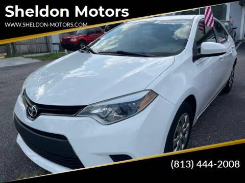 2014 Toyota Corolla for sale at Sheldon Motors in Tampa FL