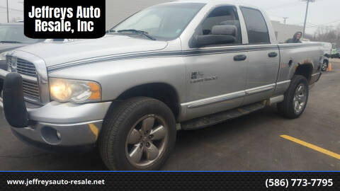 2005 Dodge Ram Pickup 1500 for sale at Jeffreys Auto Resale, Inc in Clinton Township MI