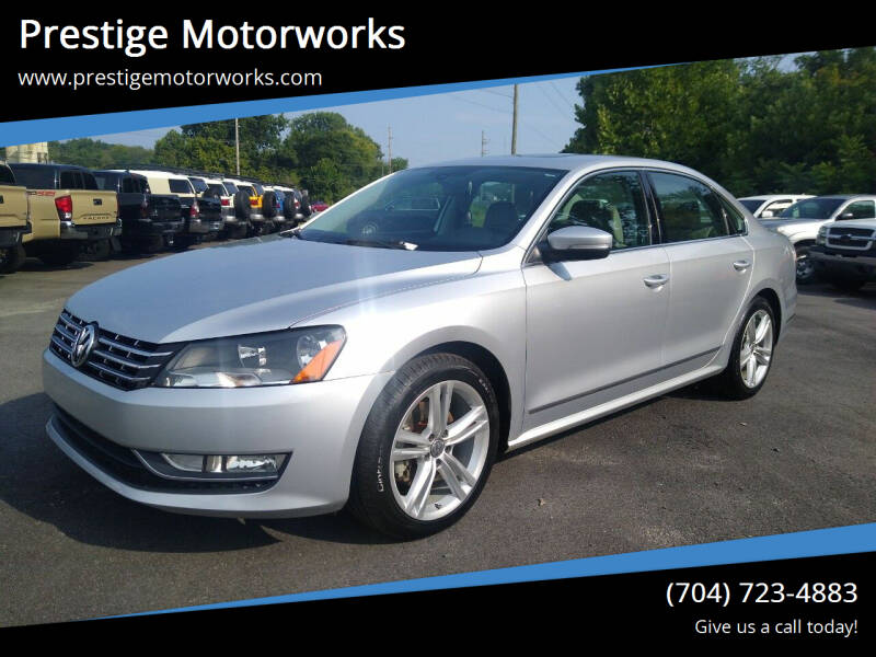 2015 Volkswagen Passat for sale at Prestige Motorworks in Concord NC