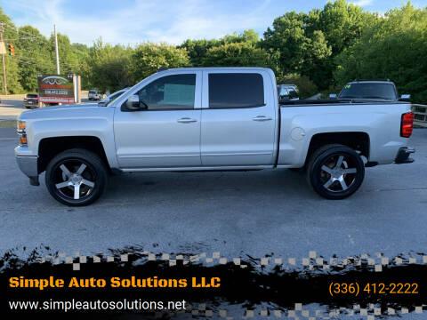2015 Chevrolet Silverado 1500 for sale at Simple Auto Solutions LLC in Greensboro NC