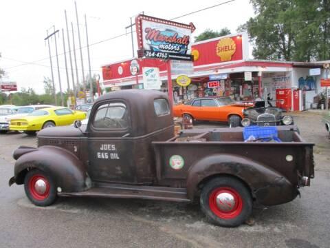 1941 Chevrolet 3100 for sale at Marshall Motors Classics in Jackson MI
