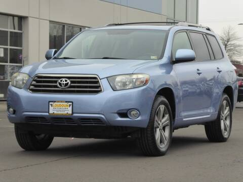 2008 Toyota Highlander for sale at Loudoun Used Cars - LOUDOUN MOTOR CARS in Chantilly VA