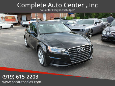 2016 Audi A3 for sale at Complete Auto Center , Inc in Raleigh NC
