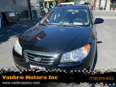 2010 Hyundai Elantra for sale at Vanbro Motors Inc in Staten Island NY