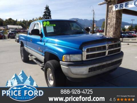 2000 Dodge Ram Pickup 2500 for sale at Price Ford Lincoln in Port Angeles WA
