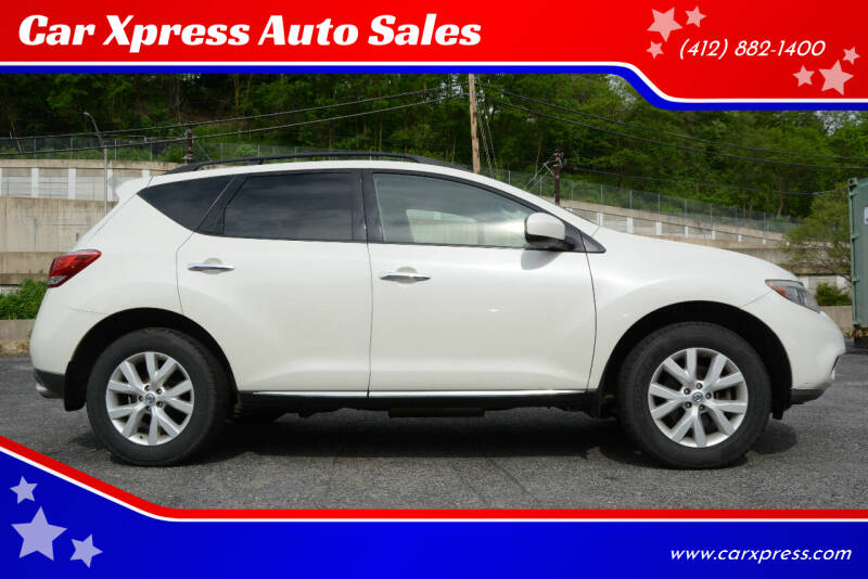 2011 Nissan Murano for sale at Car Xpress Auto Sales in Pittsburgh PA