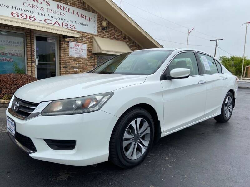 2013 Honda Accord for sale at Browning's Reliable Cars & Trucks in Wichita Falls TX