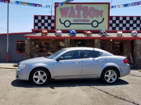 2013 Dodge Avenger for sale at Watson Motors in Poteau OK