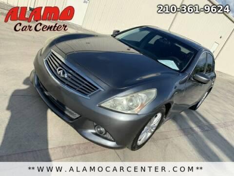 2012 Infiniti G37 Sedan for sale at Alamo Car Center in San Antonio TX