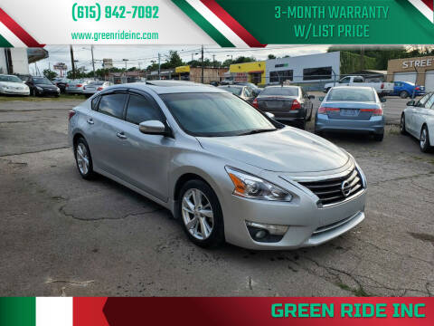 2013 Nissan Altima for sale at Green Ride Inc in Nashville TN