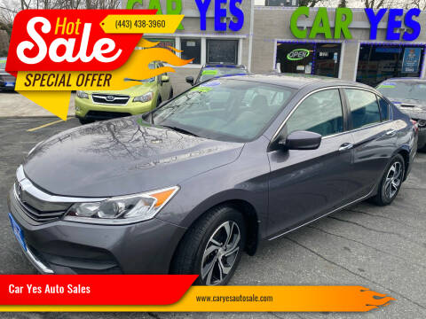2017 Honda Accord for sale at Car Yes Auto Sales in Baltimore MD