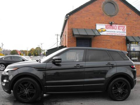 2012 Land Rover Range Rover Evoque for sale at Merrimack Motors in Lawrence MA