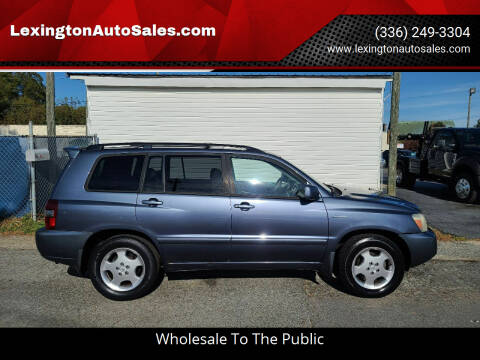 2004 Toyota Highlander for sale at LexingtonAutoSales.com in Lexington NC