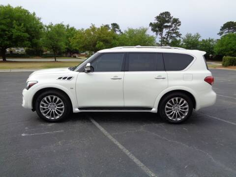 2015 Infiniti QX80 for sale at BALKCUM AUTO INC in Wilmington NC