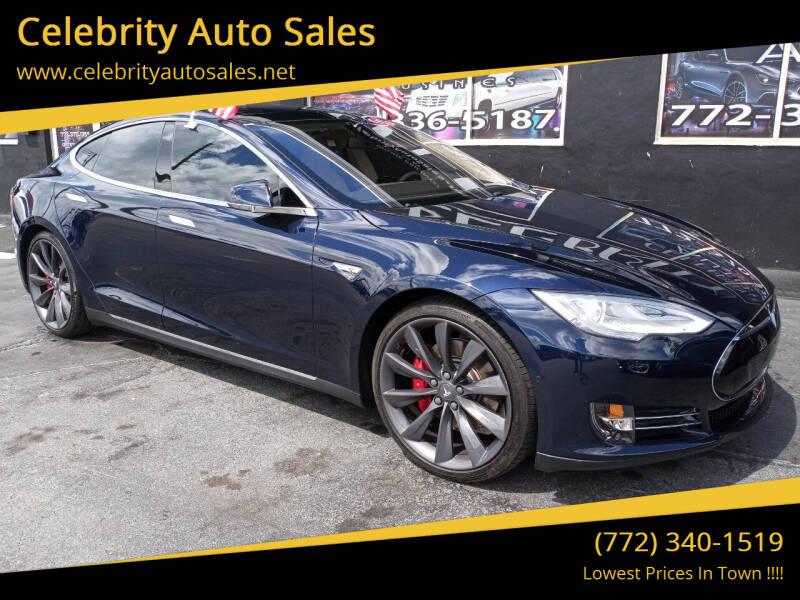 2014 Tesla Model S for sale at Celebrity Auto Sales in Port Saint Lucie FL