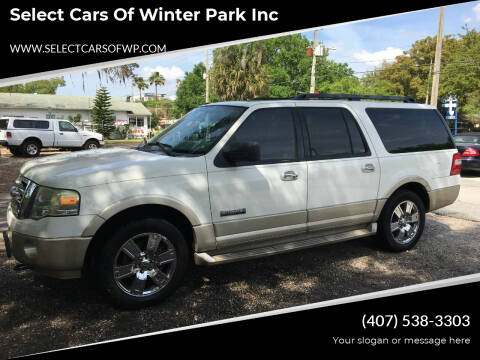 2008 Ford Expedition EL for sale at Select Cars Of Winter Park Inc in Orlando FL