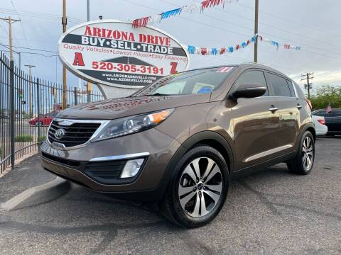2011 Kia Sportage for sale at Arizona Drive LLC in Tucson AZ