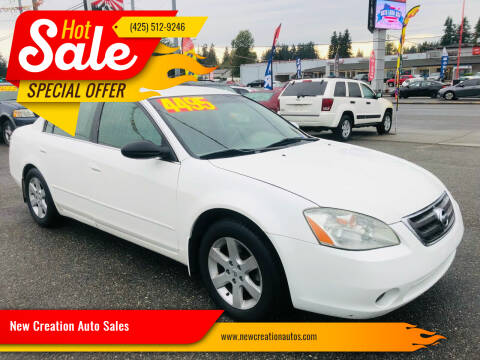 2002 Nissan Altima for sale at New Creation Auto Sales in Everett WA