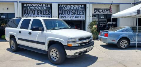 2003 Chevrolet Suburban for sale at Affordable Imports Auto Sales in Murrieta CA