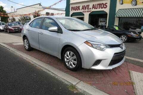 2015 Toyota Corolla for sale at PARK AVENUE AUTOS in Collingswood NJ