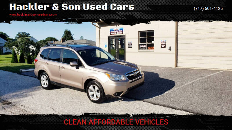 2015 Subaru Forester for sale at Hackler & Son Used Cars in Red Lion PA