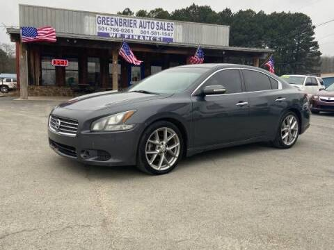 2011 Nissan Maxima for sale at Greenbrier Auto Sales in Greenbrier AR
