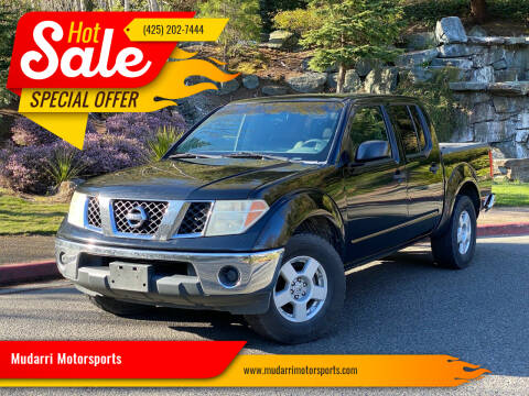 2008 Nissan Frontier for sale at Mudarri Motorsports in Kirkland WA